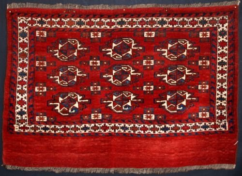 antique yomut turkmen chuval great colour late 19th century