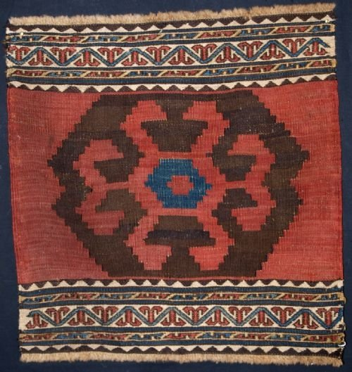 antique shahsavan mafrash kilim end panel 1 circa 1900
