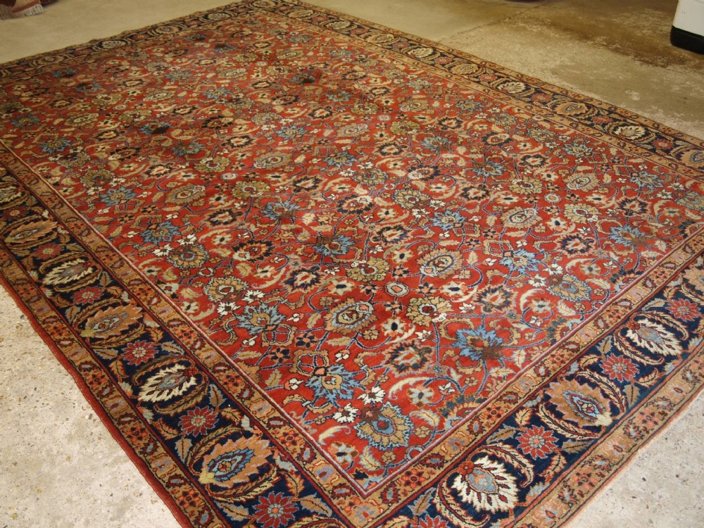 antique tabriz carpet all over design large size circa 1900