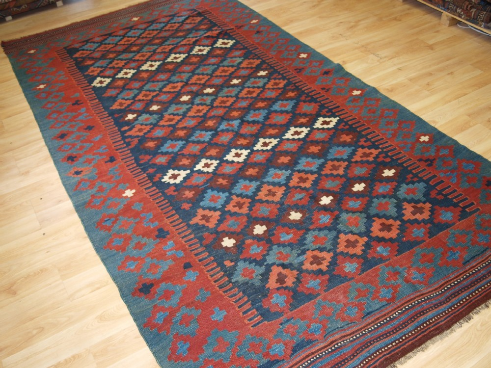 antique varamin kilim of traditional design excellent condition circa 190020