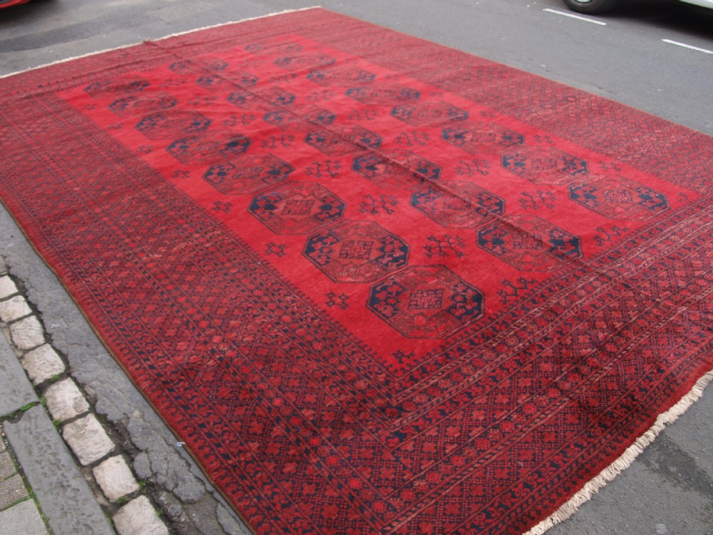 old afghan village carpet of exceptional large size great colour and condition circa 1920