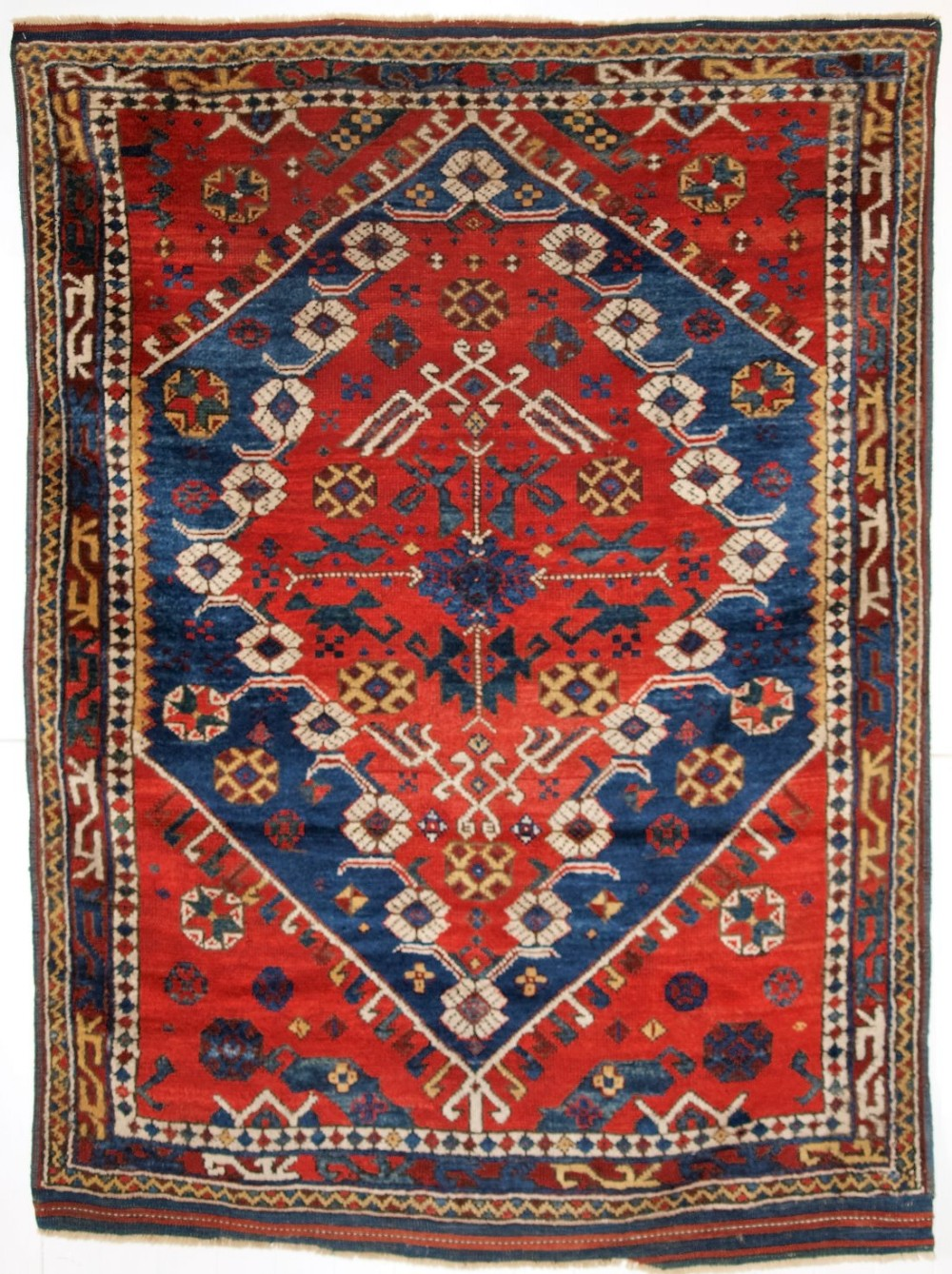 antique turkish bergama region rug classic design and superb colour circa 1880