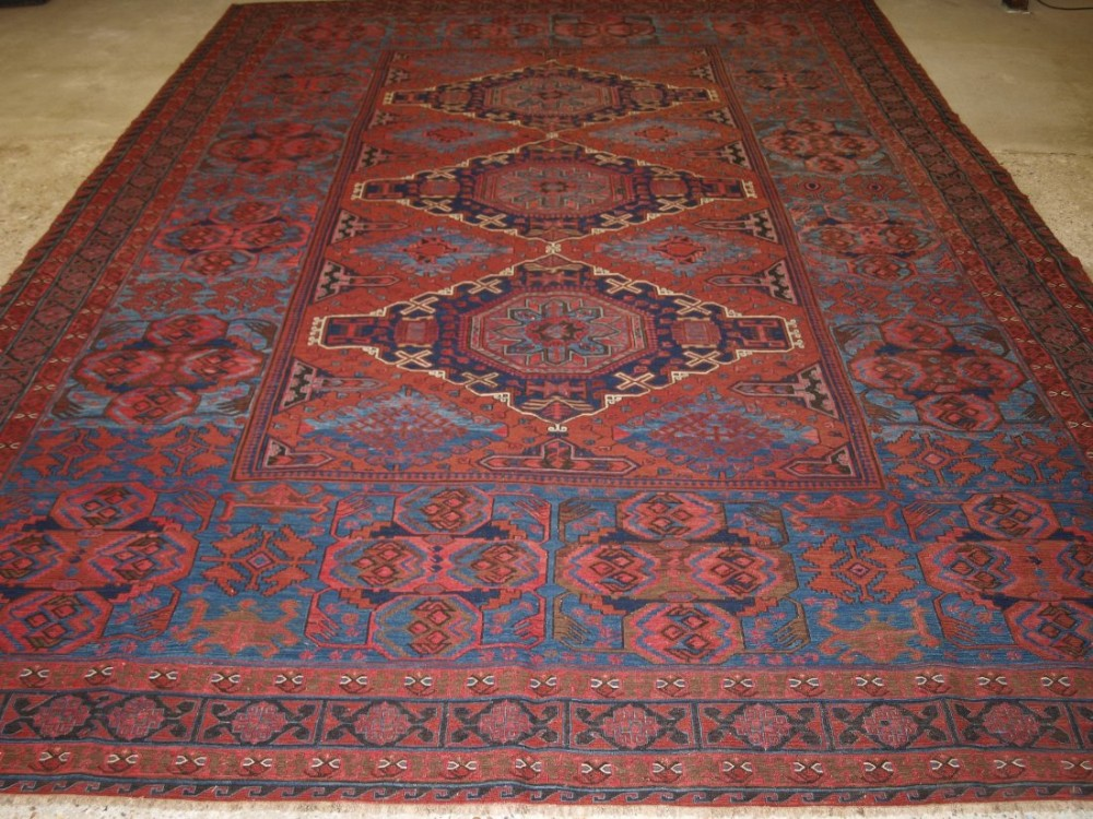 antique caucasian derbent region soumak of large size superb colour and condition circa 1900