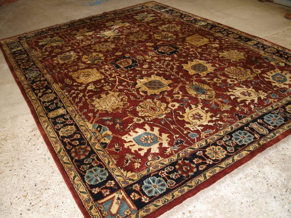 indian agra carpet of traditional design with superb colour about 20 years old