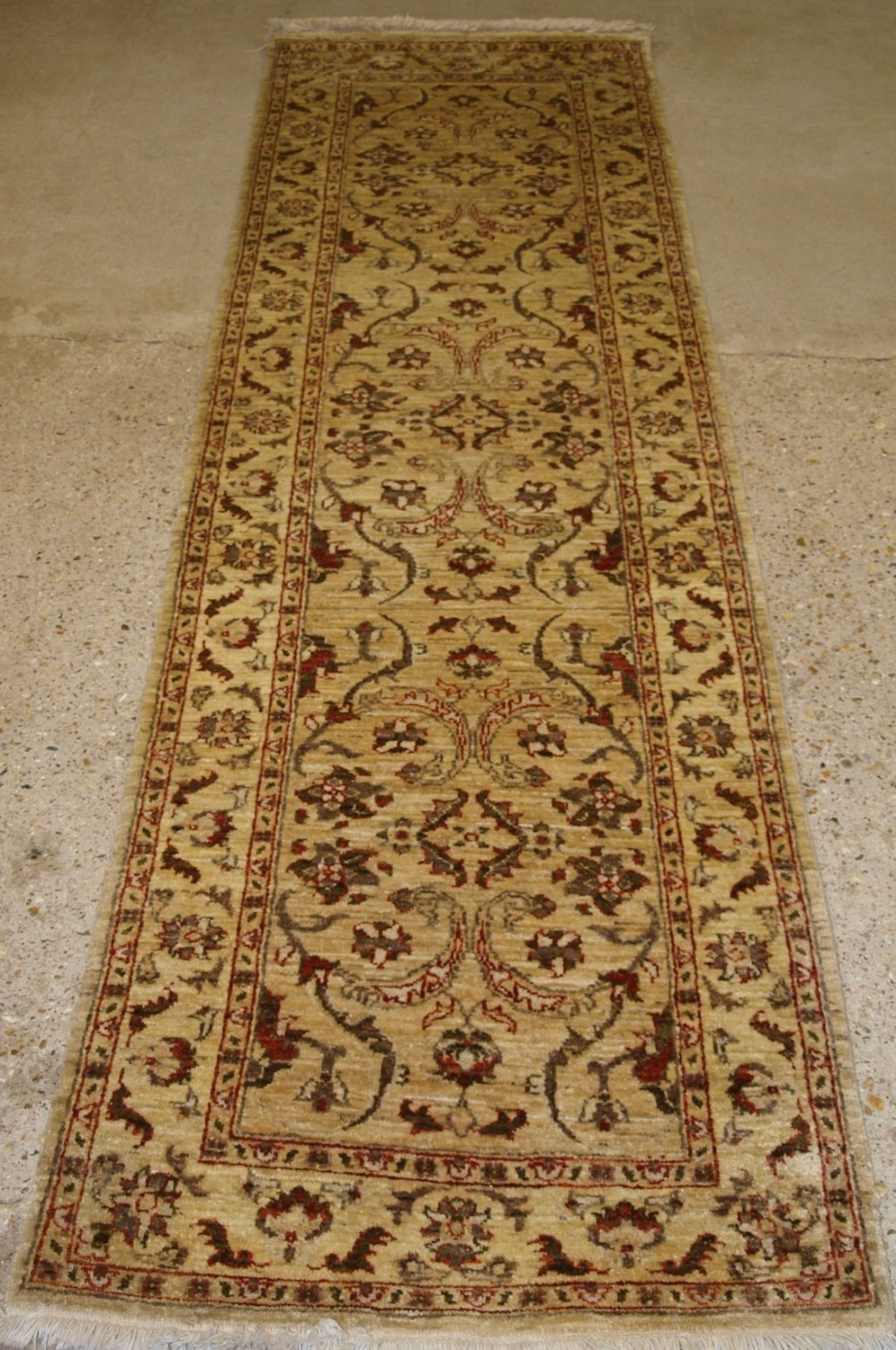 hand knotted afghan runner in 19th century classic persian design style