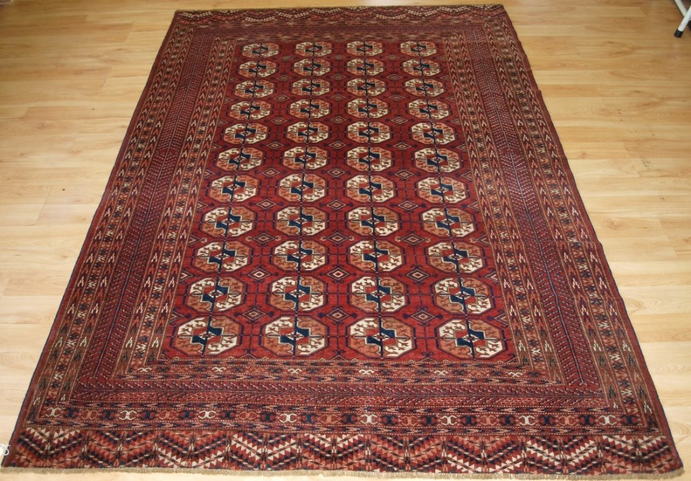 antique rug by the tekke turkmen excellent colour southern turkmenistan circa 1900