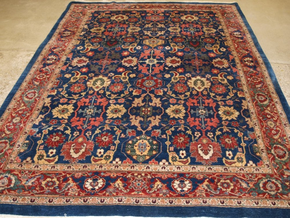 old bijar carpet 19th century design natural dyes and superb wool recent production