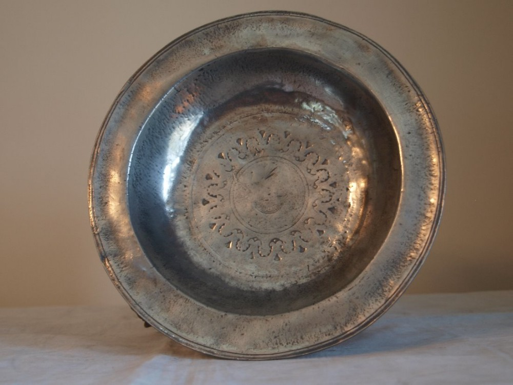 antique rare german pewter bowl sabastian friedrich landsberg circa 1680