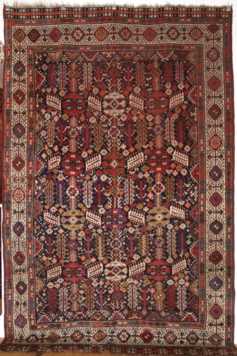 antique south west persian shekarlu qashqai rug classic design excellent condition circa 1900