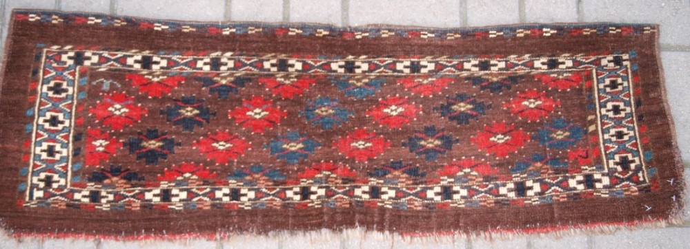 antique yomut turkmen torba great design and colour late 19th century one of a pair b