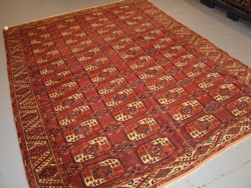 antique ersari kizil ayak main carpet very fine weave early example mid 19th century