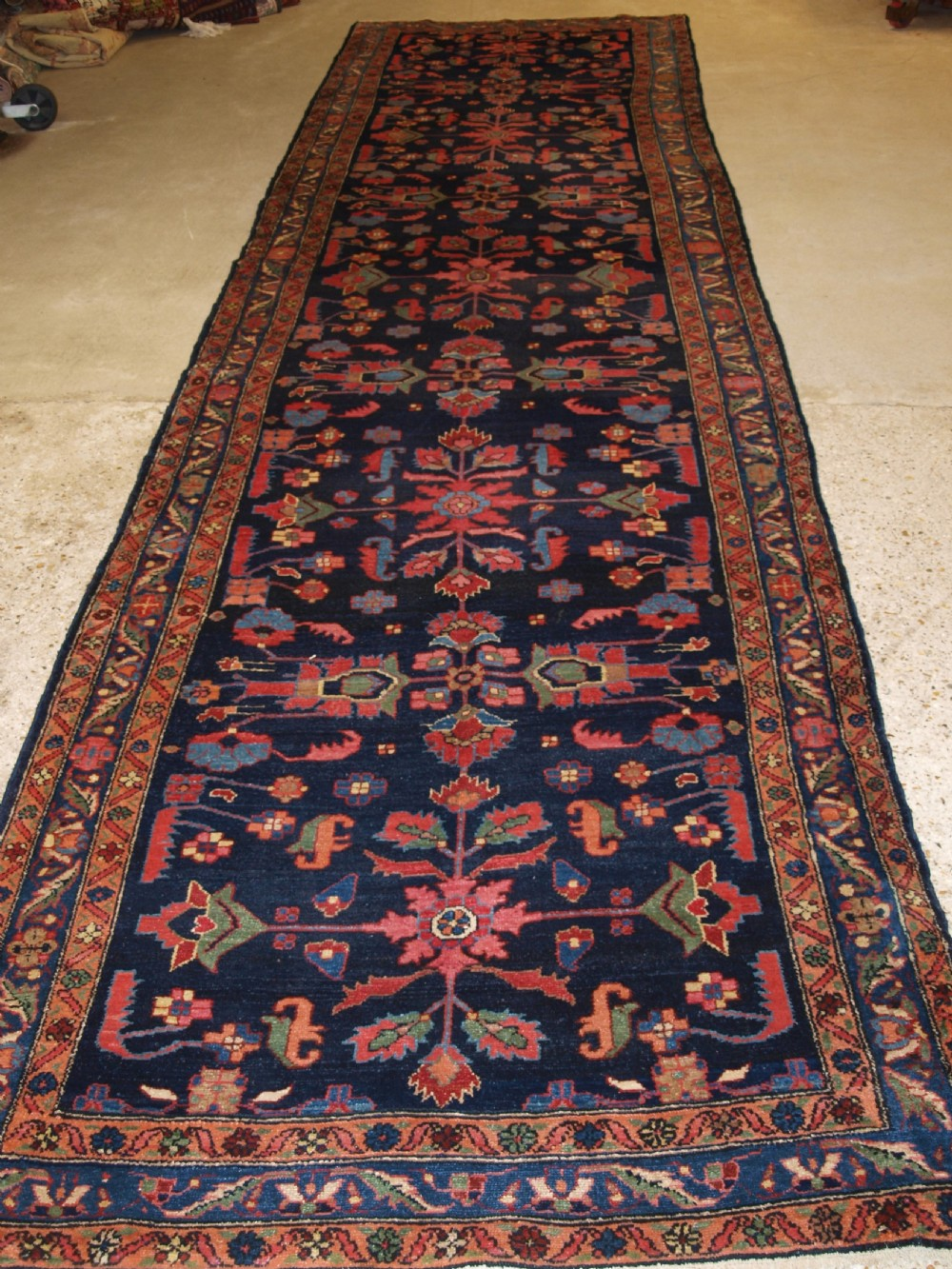 antique north west persian hamadan village runner of large size circa 190020