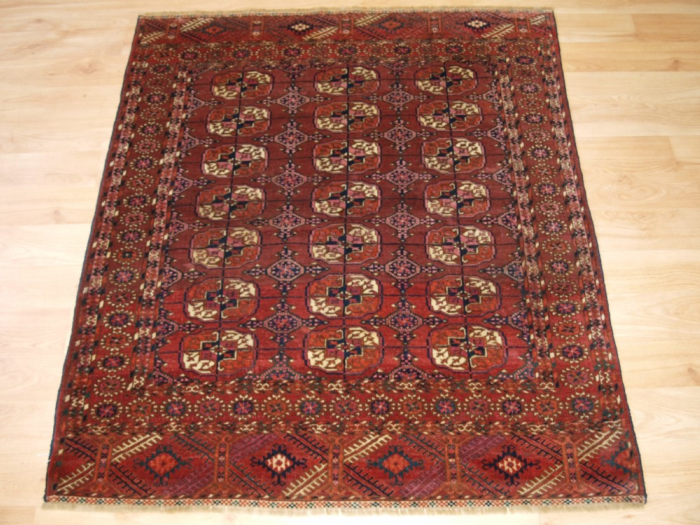 antique tekke turkmen dowry rug small size fine weave circa 1880