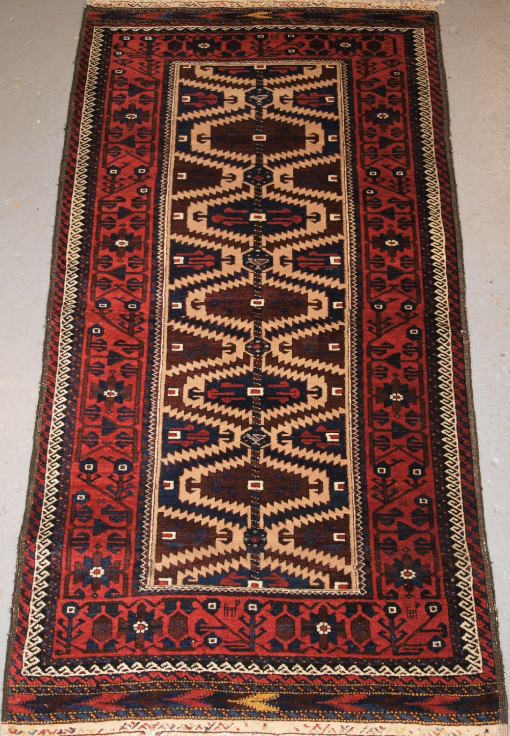antique baluch rug khorassan region north east persia late 19th century