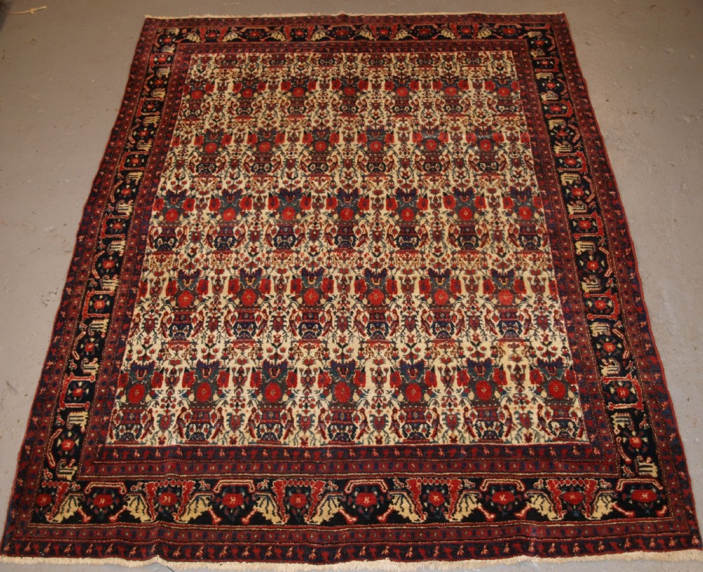 antique senneh rug with zili sultan design superb colours circa 190020
