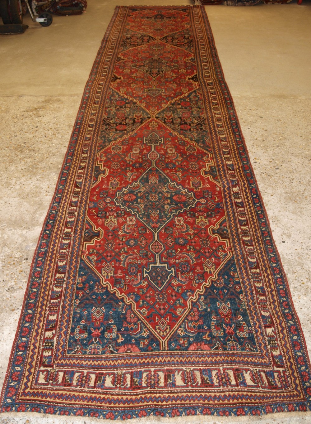 antique persian bijar runner country house look excellent condition circa 1880