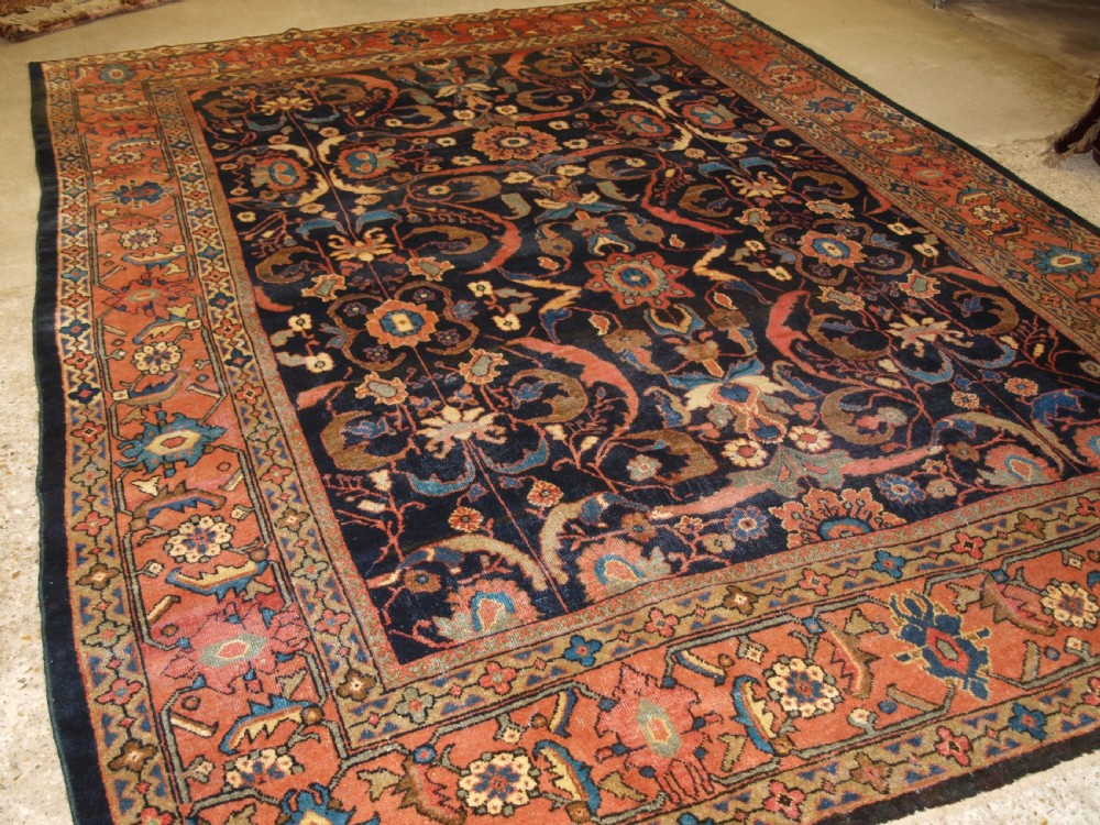 antique mahal carpet country house look great colour circa 1900