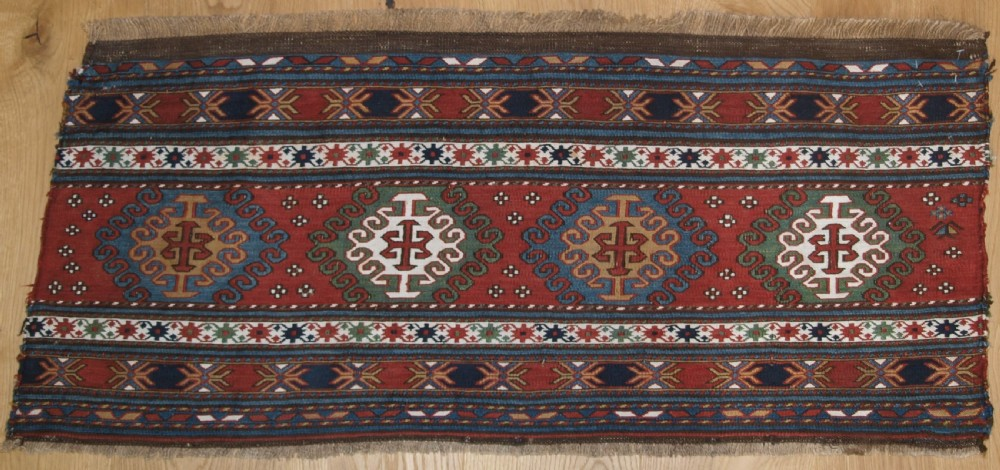 antique shahsavan or south caucasian soumak mafrash panel circa 1890