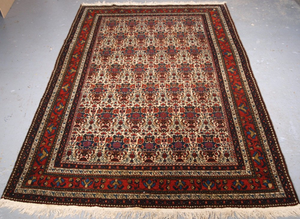 antique abedeh rug with zili sultan design superb example circa 1920