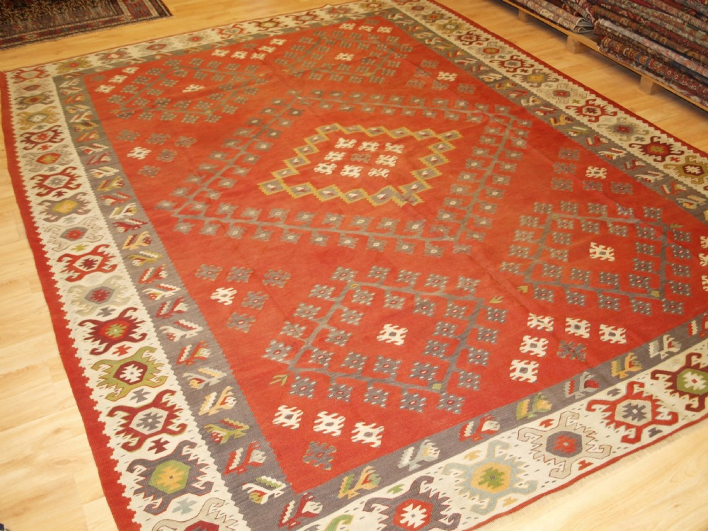antique sharkoy kilim traditional design and soft colours circa 1920