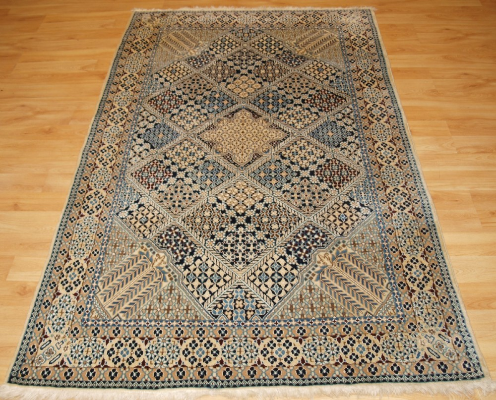 old nain rug with all over lattice design soft lambs wool circa 1960