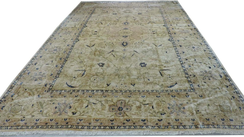 old hand knotted afghan carpet in the 19th century ziegler style about 10 years old